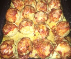 Chicken Parma Balls with Mozarella centre