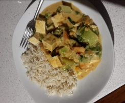 Vegan Peanut Lime Curry with Tofu