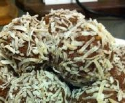 Choc Almond Coconut Truffles