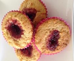 Coconut Jam drop cupcakes