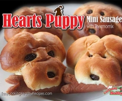 """Hearts Puppy"" mini sausage bun"