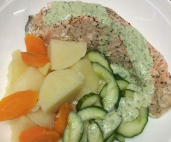 Salmon Steaks with Cucumber and Spiced Yoghurt - ThermoFun