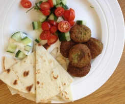 Falafels with Smokey Yogurt Dressing