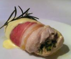 Chicken and Proscuitto with Creamy Cheese Sauce . . . HOWEZAT!