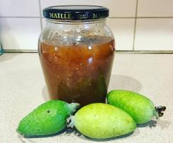 Feijoa Jam with Vanilla, Ginger and Cardamon.