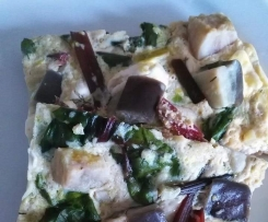 Eggplant and beetroot leaves frittata