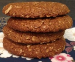 Carob Anzac Biscuits (Butter Free)