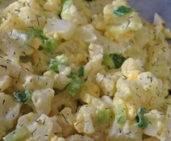 "Cauliflower Version of ""I LOVE your potato salad"" no-potato salad"