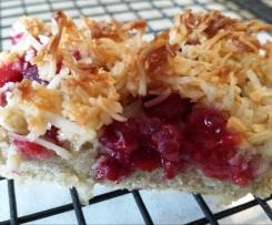 Raspberry Coconut Slice (gluten free)