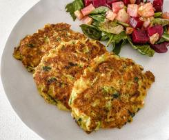 ZUCCHINI AND CARROT FRITTERS – EGG FREE