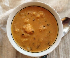 Cauliflower, Coconut and Chickpea soup