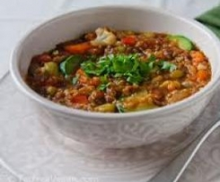 Quick Healthy Lentil and Vegetable Stew