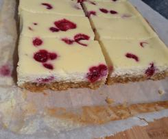 White Chocolate and Raspberry slice