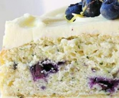 Blueberry Zucchini Cake with Lemon Buttercream Icing