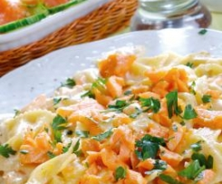Butterfly Pasta with Salmon Sauce
