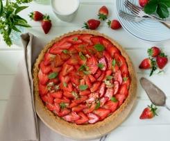 Strawberry Tart with Basil Sugar