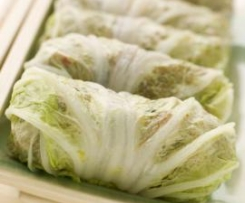 Stuffed Cabbage with Porcini Mushroom Sauce