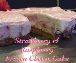 Strawberry & Raspberry Frozen Cheese Cake