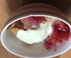 Apple and Raspberry Sponge Pudding