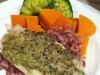 Basil Pesto Steamed Fish and wild rice