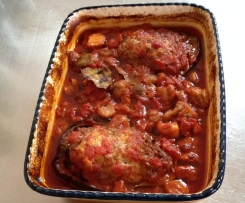 Greek baked eggplant with lamb