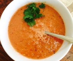 Spicy Watermelon Tomato Gazpacho