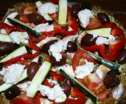Raw Buckwheat Pizza