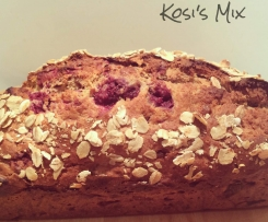 Raspberry and Banana Breakfast Loaf