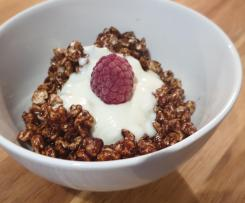 No more coco pops- Puffed Buckwheat choc cereal
