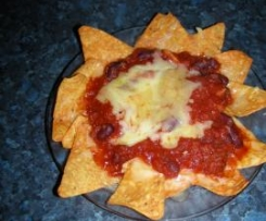 Nachos with beans