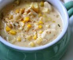 Crab and sweetcorn chowder