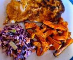 Paleo/keto Cajun chicken snitty & slaw