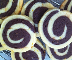 Chocolate-orange Shortbread Pinwheels