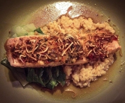 Asian Salmon with Coconut Brown Rice (Gluten and Dairy Free)