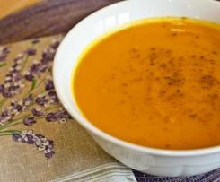 Autumn Spiced Sweet Potato and Carrot Soup