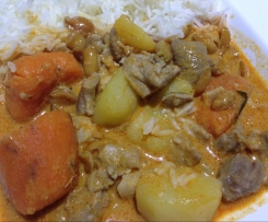 Penang Chicken Curry with Potato and Sweet Potato