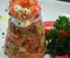 Salmon Salsa Stack