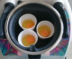 Basket/Varoma Steamed Breakfast Eggs - Thermomumma