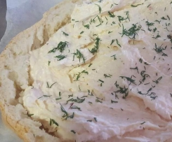 Cob Loaf with Salmon Tempters Dip