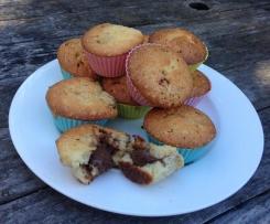Muffin Nutella Heart