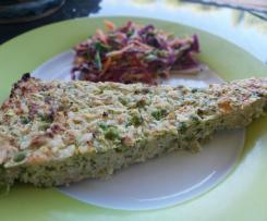 Tuna, Zucchini and Pea Slice