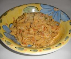 Sundried Tomato,Chicken and Linguini in a Cream Sauce