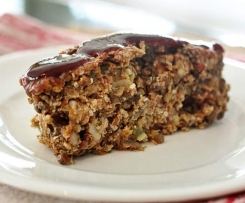 Glazed Lentil Walnut Apple Loaf (Vegan)