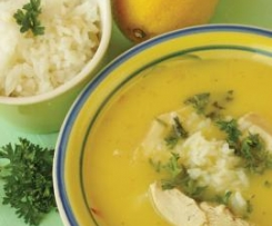 Avgolemono - Greek Chicken Soup with Egg and Lemon