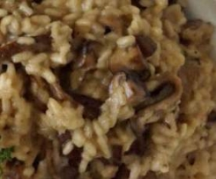 Mushroom Brown Rice Risotto (dairy free)