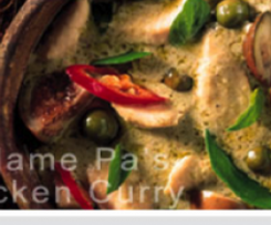 Madame Pa's Thai Green Chicken Curry