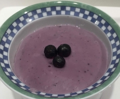 Blackcurrant Custard Pudding