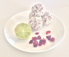 Zesty Cranberry and Coconut bliss Balls