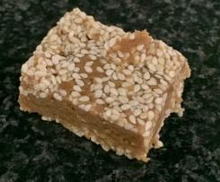 Peanut Butter Sesame Seed Bars