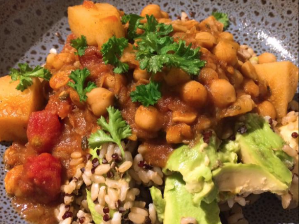 Caribbean vegan potato and chickpea curry by healthcoachsarah a thumbnail image 1 forumfinder Gallery